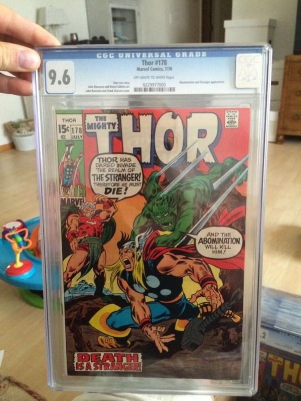 The Mighty Thor 178 Cgc 9.6 Looks 9.8 Off White White Pages Abomimation Stranger