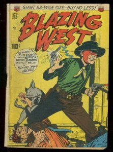 BLAZING WEST #15 1951-BOOT ACROSS THROAT COVER-HOODED H VG