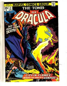 Tomb Of Dracula # 27 NM- Marvel Comic Book Horror Fear Vampire Monster TW64
