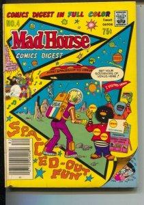 Madhouse Comics Digest#4 1978-Fawcett-flying saucer cover-Super Duck, Franken...