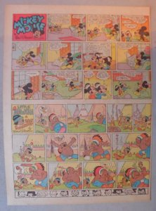 Mickey Mouse Sunday Page by Walt Disney from 6/29/1941 Tabloid Page Size