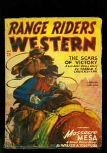 Range Riders Western Pulp August 1950- Steve Reese- Sun Bear Valley VG