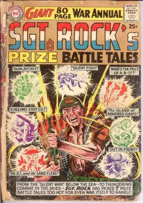 SERGEANT ROCKS PRIZE BATTLE TALES Winter 1964 PR COMICS BOOK