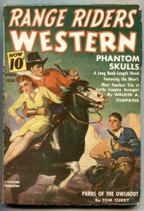Range Riders Western Pulp Spring 1941- Phantom Skulls FN