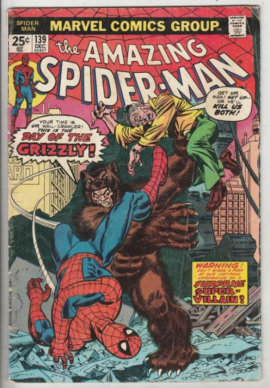 Amazing Spider-Man #139 (Dec-74) VG+ Affordable-Grade Spider-Man