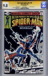 SPECTACULAR SPIDER-MAN #38 CGC 9.8 SS AL MILGROM (lone highest s/s on census)