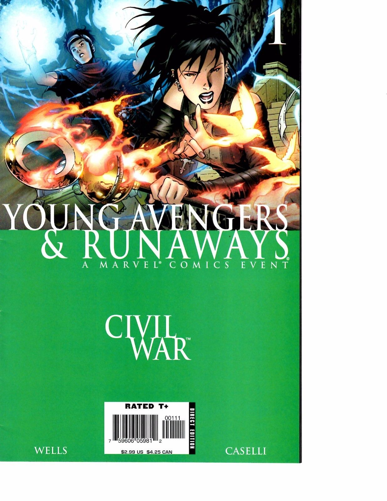 Runaways 1A Greene Variant NM 2015 Stock Image
