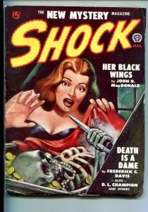 SHOCK-#1-MAR 1948-PULP-MYSTERY-HORROR-WEIRD-SOUTHERN STATES PEDIGREE-vf