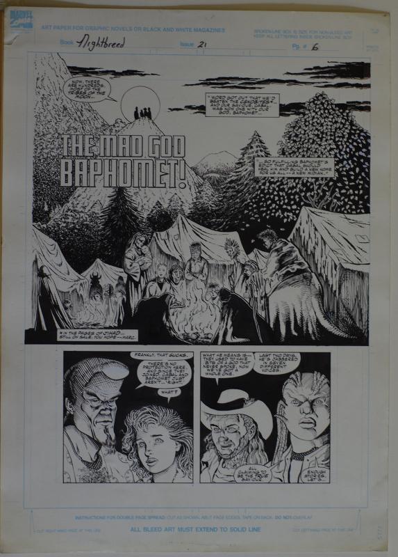 COLLEEN DORAN / JD PASCALE original art, NIGHT BREED #21 pg 6, Clive Barker