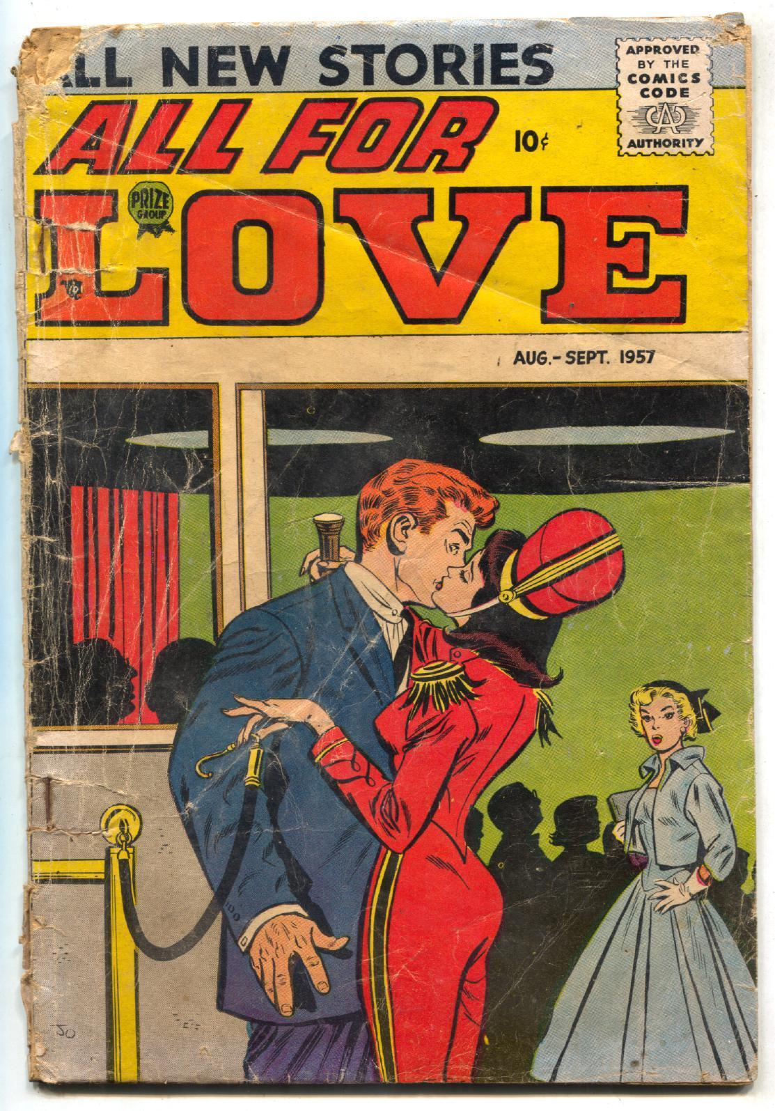 All For Love #3 1957- Spicy movie usher cover FR/G / HipComic
