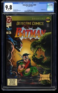 Detective Comics #660 CGC NM/M 9.8 White Pages