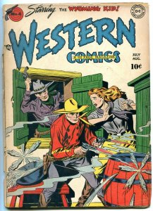 WESTERN COMICS #4 1948-DC COMICS VIGILANTE WYOMING KID G+