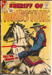 Sheriff of Tombstone #17 1961-Charlton-classic cover-10¢ cover price-G