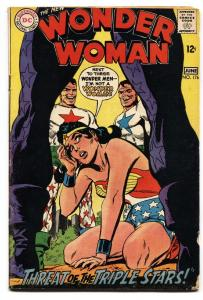 WONDER WOMAN #176 comic book 1968-battle cover-DC SILVER AGE-vg