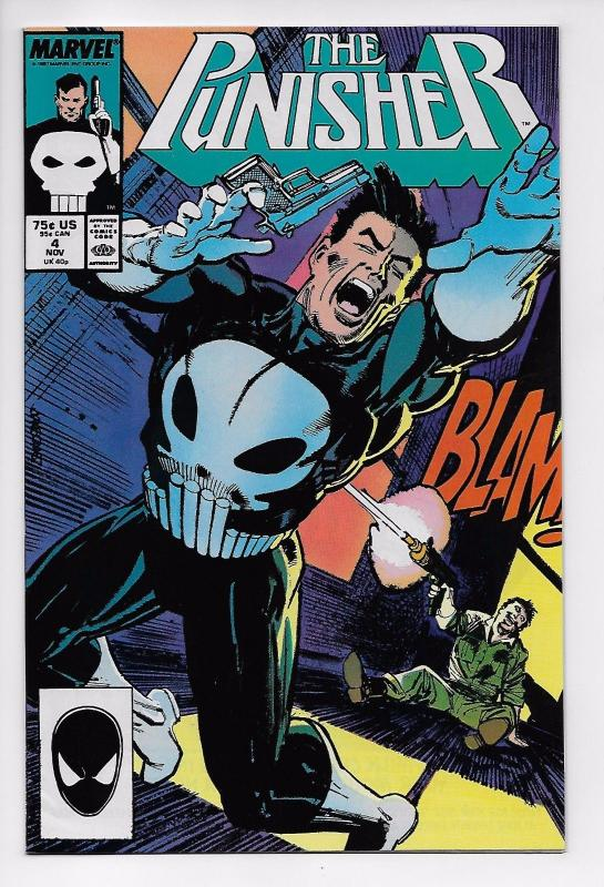 The Punisher #4 - 1st Appearance of Microchip (Marvel, 1987) - VF+