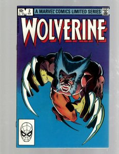 Wolverine # 2 VF Marvel Comic Book X-Men Frank Miller Chris Claremont SB5
