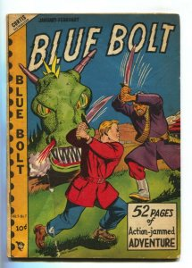 Blue Bolt Vol 9 #7 1949- Monster cover- Golden Age G-
