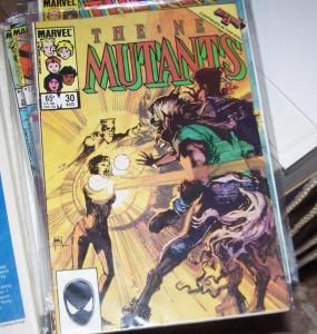 NEW MUTANTS  #  30 1985  marvel  secret wars+ magik gladiators