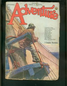 ADVENTURE PULP- 9/23/1926-HUGH PENDEXTER-SAILING COVER G