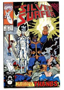 Silver Surfer #55 1991 Infinity Gauntlet Thanos Marvel.