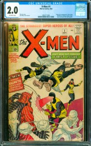 X-Men #1 CGC Graded 2.0 Origin and 1st appearance of the X-Men (Professor X, ...