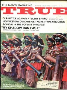 True 8/1965-Fawcett-Hell's Angels-VIP Cartoons-Nazi Escape-pulp thrills-VG