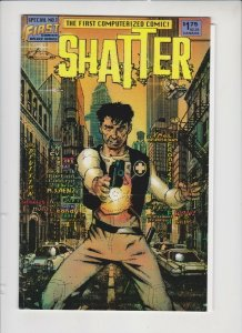 SHATTER: SPECIAL #1 1985 FIRST COMICS / 1'ST COMPUTERIZED COMIC / UNREAD
