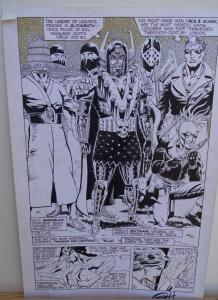 GREG HORN original art, FEMFORCE HOUSE OF HORROR #1 pg 2, Signed, Bad guys, 1989