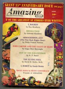 Amazing Stories April 1961- I Robot- Buck Rogers- John Carter