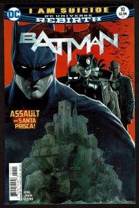 Batman #10 Rebirth (Jan 2017, DC) 0 9.0 VF/NM