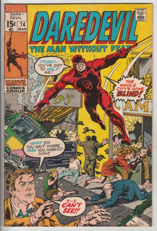 Daredevil #74 (Apr-71) FN/VF Mid-High-Grade Daredevil, Black Widow