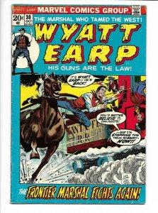 Wyatt Earp #30 Marvel Western 1972 FN- 5.5 Dick Ayers train robbery cover.