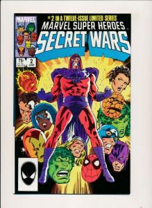 Marvel Super Heroes SECRET WARS #2 Avengers 1984 ~ FINE+ (PF353)