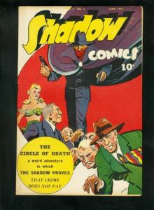 SHADOW COMICS v.5 #3 1945-DOC SAVAGE-CIRCLE OF DEATH-HIGH GRADE very fine VF