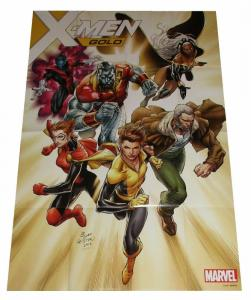 X-Men Gold Folded Promo Poster (24 x 36) - New!