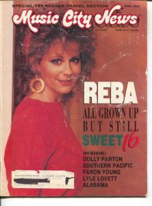 Music City News-Reba McEntire-Lyle Lovett-Alabama-Dolly Parton-May-1989