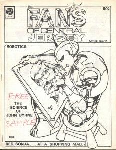 FANS OF CENTRAL JERSEY #14-1977-REGIONAL FANZINE-JOHN BYRNE INTERVIEW & COVER