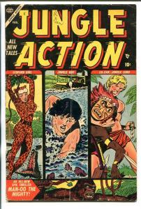 JUNGLE ACTION #3 1955-ATLAS-JOE MANEELY-LO-ZAR-LEOPARD GIRL-vg