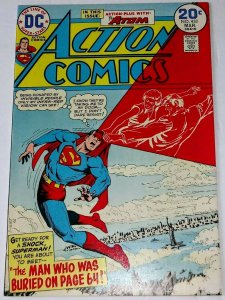 Action Comics #433 (9.0-9.2) THE MAN WHO WAS BURIED ON PAGE 64! ID#44L