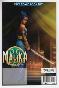 MALIKA WARRIOR QUEEN (2017 YOUNEEK STUDIOS) #1 Unstamped NM-  FCBD 2017