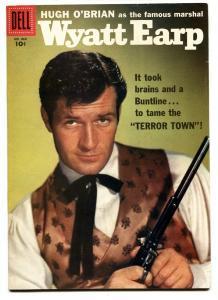 Four Color Comics #860 1957- Wyatt Earp- 1st issue Hugh O'Brian VF-