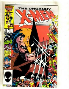 Uncanny X-Men # 211 NM Marvel Comic Book Wolverine Sabretooth Storm Beast HJ9