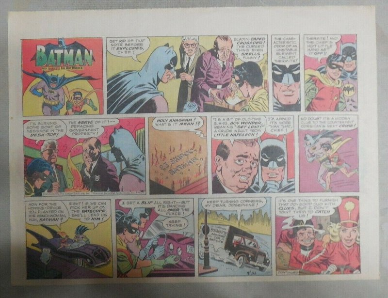 Batman Sunday by Bob Kane from 8/21/1966 Size: 11 x 15 inches