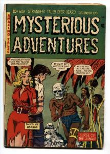 MYSTERIOUS ADVENTURES #5 Pre-code horror comic book 1951-Weird menace