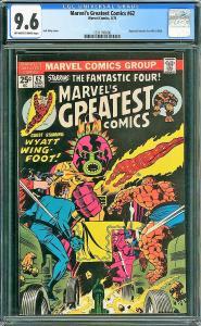 Marvel's Greatest Comics #62 (Marvel, 1976) CGC 9.6 HIGHEST GRADED