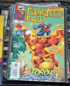 FANTASTIC FOUR #8 vol 3 1997 marvel  torch cuts loose
