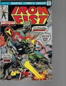 Iron Fist #3 (Marvel, 1975) Mid-grade