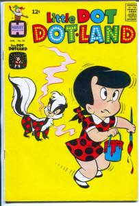 Little Dot Dotland #34 1969-Harvey-early edition-skunk cover-FN