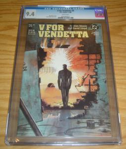 V For Vendetta #3 CGC 9.4 alan moore - david lloyd - dc comics 1988