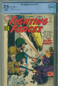 Our Fighting Forces 73 CBCS 7.5 not CGC featuring JERRY GRANDENETTI Cover & Art